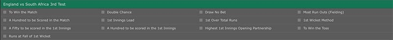 Bet365 odds layout