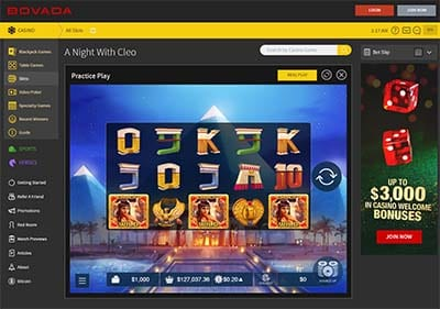Bovada online casino games