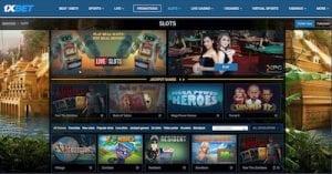 1XBet Casino desktop