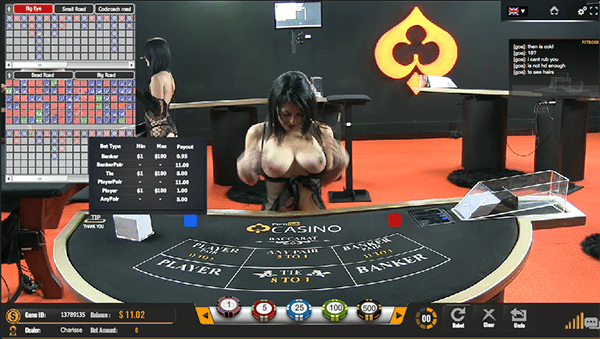Pornhub live dealer baccarat online for real money