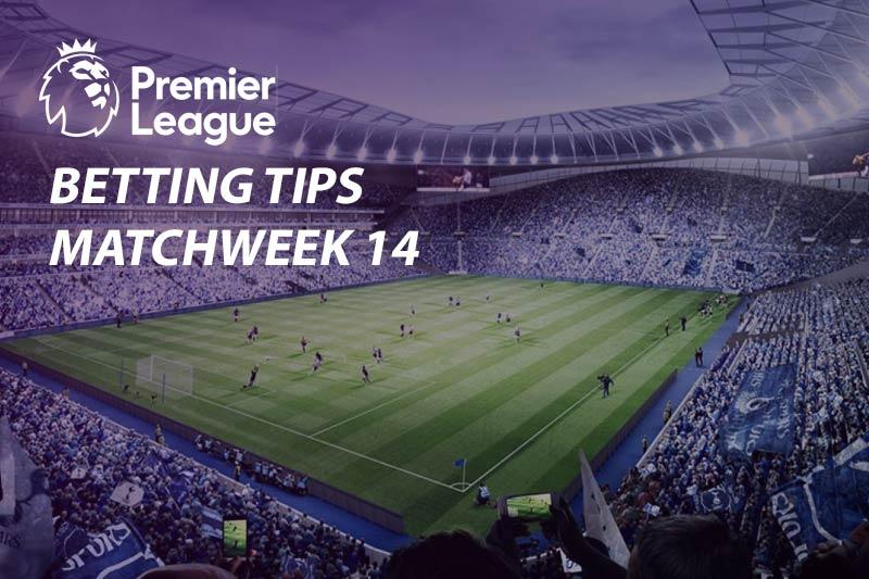 Matchweek 14 EPL odds