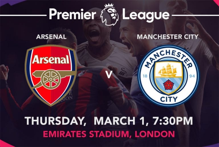 Arsenal vs. Man City EPL
