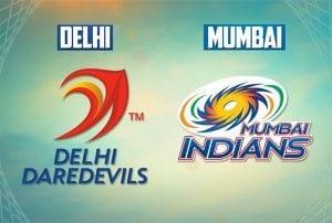 Delhi v Mumbai IPL
