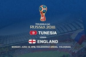Tunisia v England