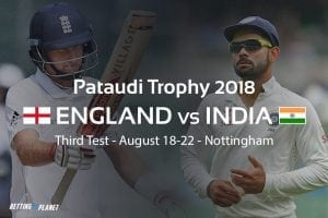 2018 Pataudi Trophy cricket betting