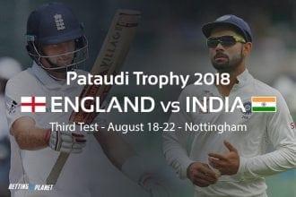 2018 Pataudi Trophy cricket betting