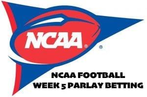 NCAA Week 5 parlay