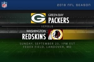 Packers v Redskins NFL Week 3