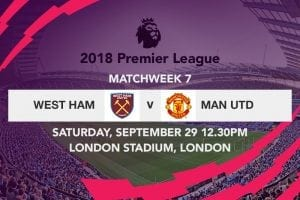 West Ham vs Man Utd week 7