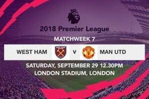 West Ham vs Man Utd week 7