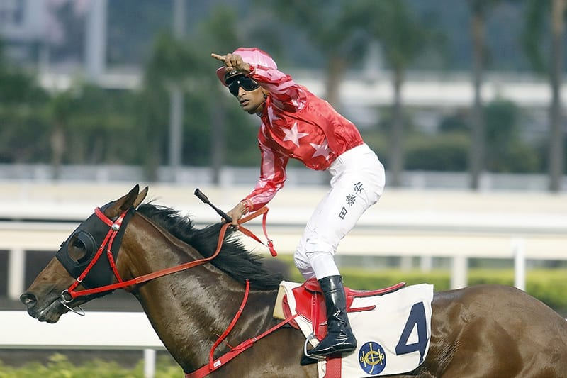 Karis Teetan wins fifth race at Sha Tin on October 7
