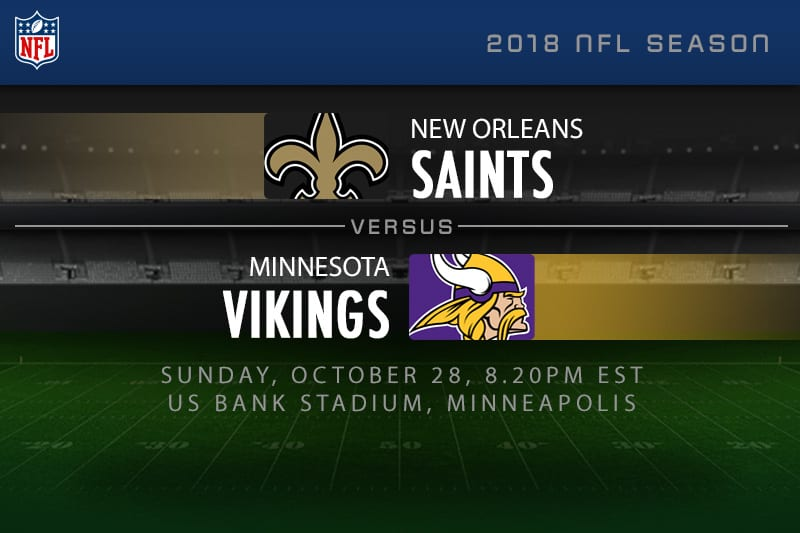 Saints v vikings NFL