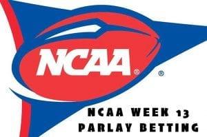NCAA week 13 parlay