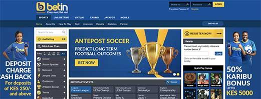 Betin Kenya online gambling site review