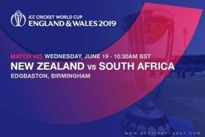 2019 Cricket World Cup betting - NZ vs SAF