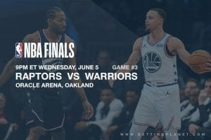 Toronto @ Golden State NBA Finals betting