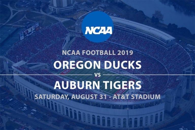 Oregon vs Auburn NCAAF 2019 odds