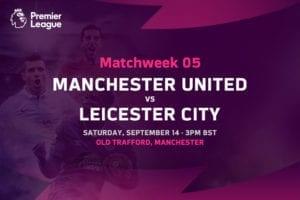 Man United vs Leicester Premier League odds