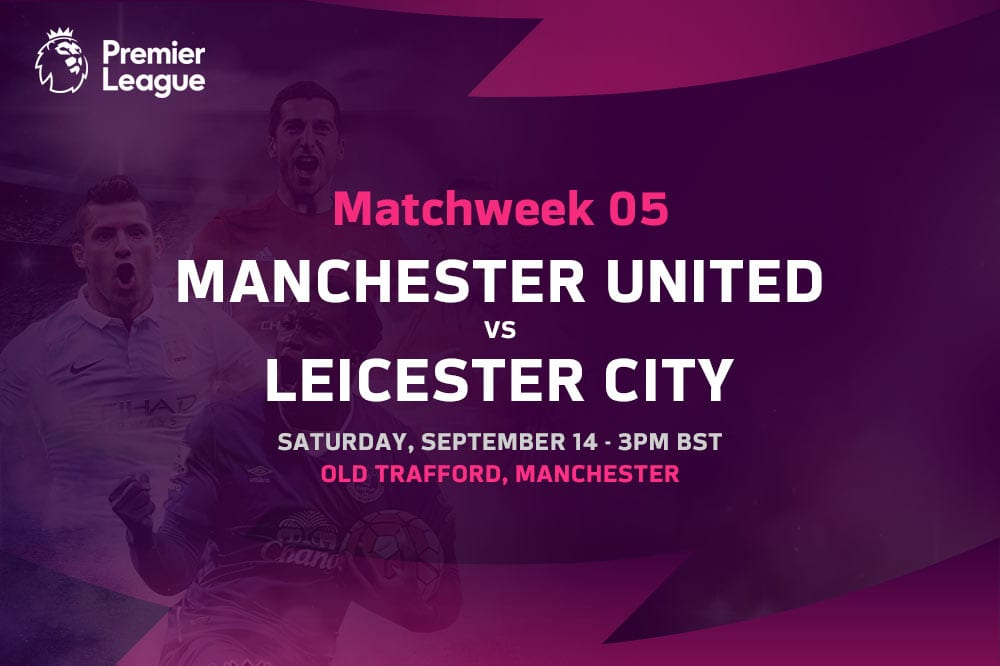 Man United vs Leicester Premier League odds