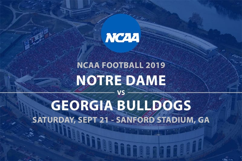 Notre Dame @ Georgia NCAAF betting