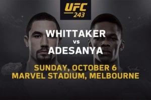 Whittaker vs Adesanya UFC odds