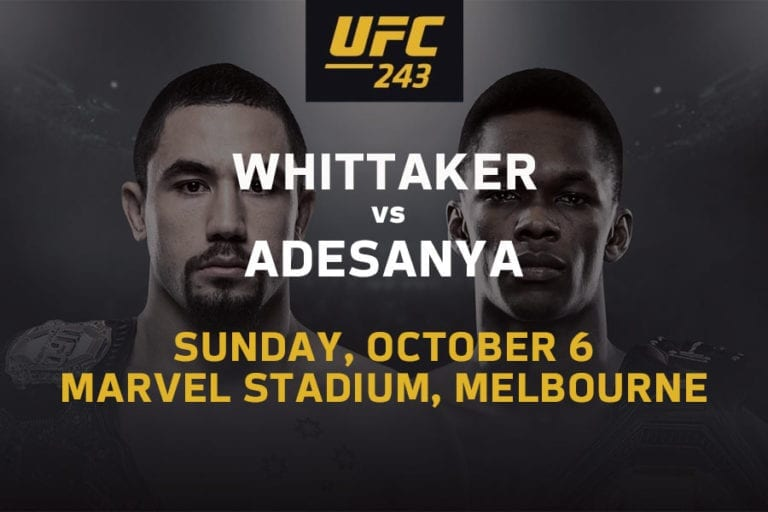 Whittaker vs Adesanya UFC odds